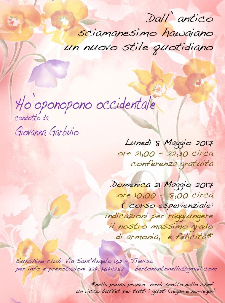 Seminario Ho'oponopono occidentale Treviso