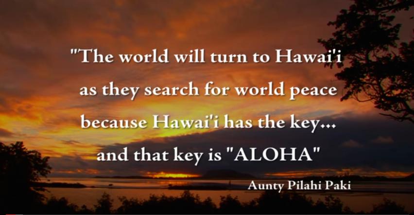 Aloha è il respiro della vita