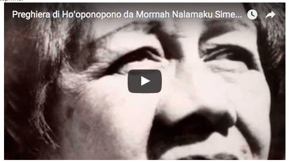 Preghiera Hoʻoponopono