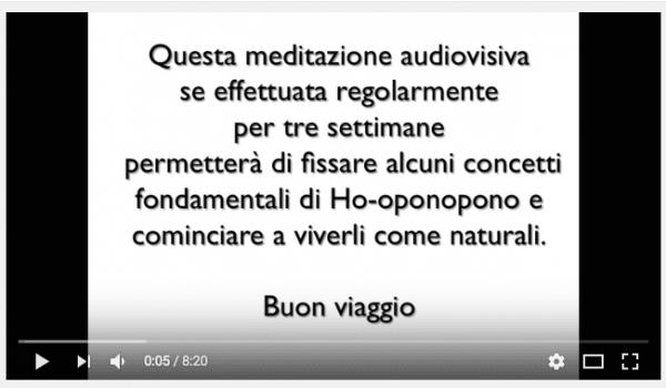 Meditazione Ho'oponopono video/audio