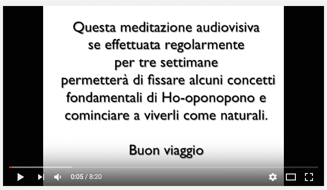 Meditazione Ho'oponopono video/audio