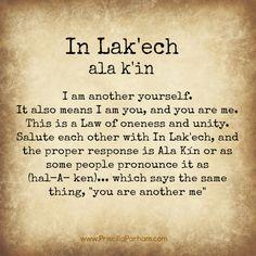 In Lak'ech (Aloha) è il codice del cuore