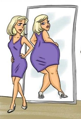 Come essere felici come le donne si vedono allo specchio
