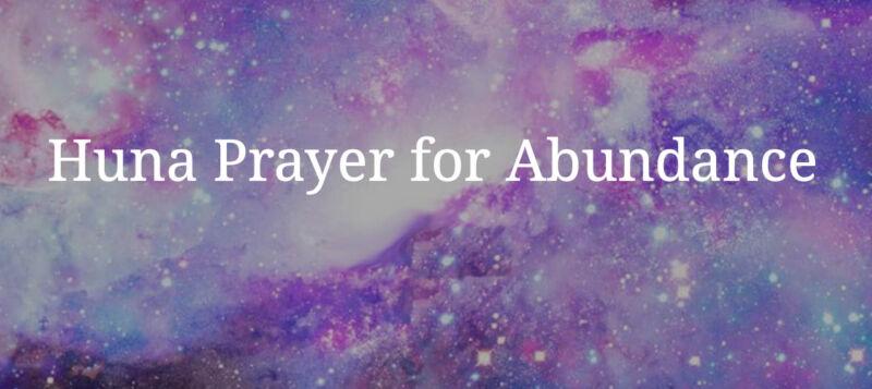 Preghiera per l'abbondanza Huna