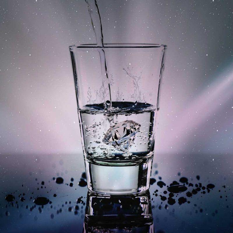 Strumento di pulizia Ho'oponopono Il bicchiere di acqua