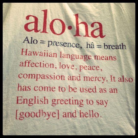 Aloha significato letterale